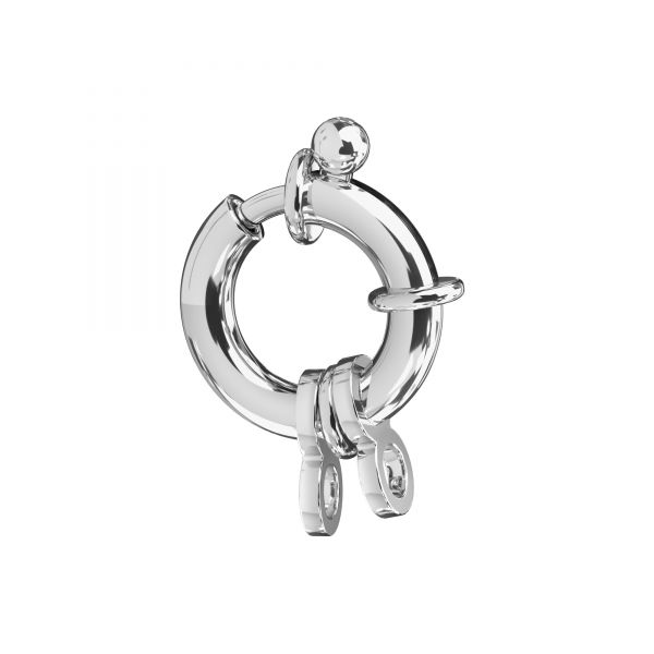 Federing clasps with jumprings, sterling silver 925, AMP 4x10,5 mm