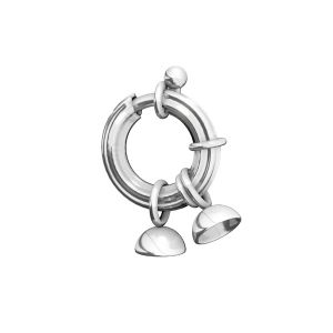 Federing clasps with end caps, sterling silver 925, AMC 3x13,5 mm