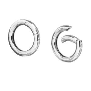 CHO 23,5 mm - round silver clasps 23,3 mm, sterling silver 925