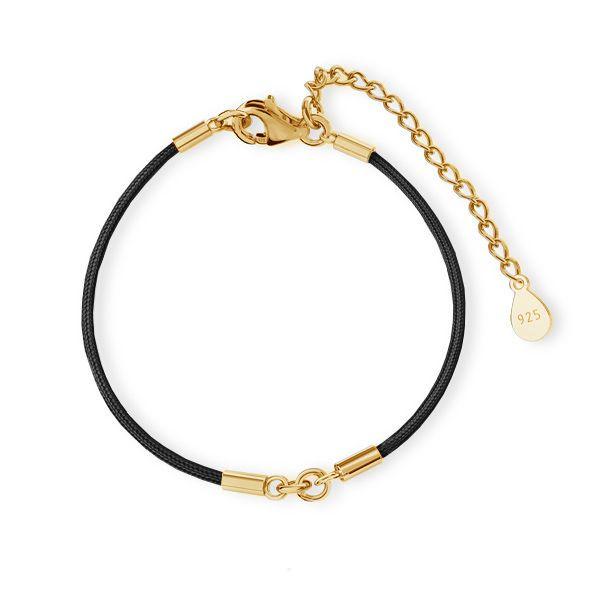 Black cord base for bracelet, J-STRING BRACELET 26 15,5-19,50 cm
