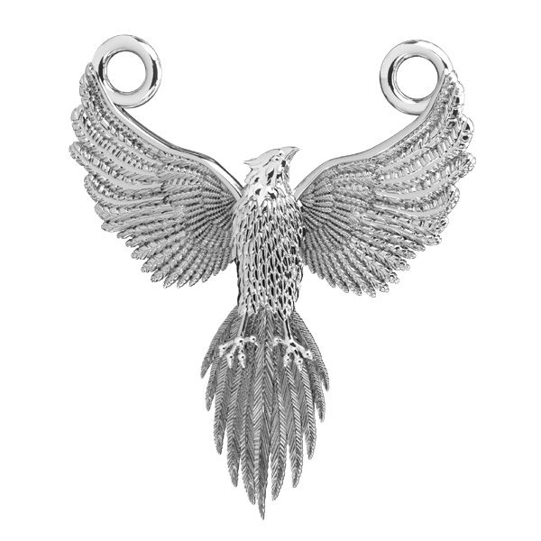 Fenix pendant connector*sterling silver 925*ODL-00823 20x24 mm