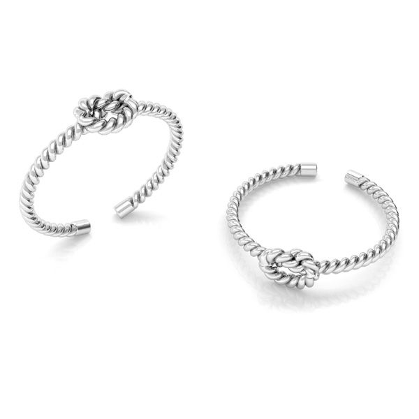 Rope ring, sterling silver 925*U-RING ODL-00817 5x20 mm