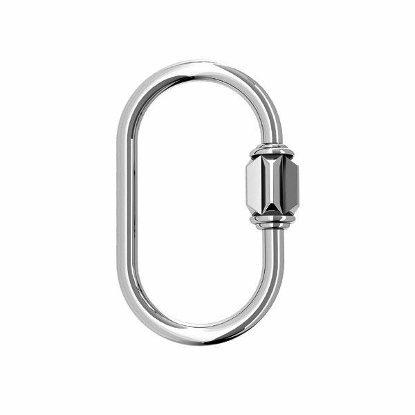 Decorative clip hook pendant connector*sterling silver 925*ODL-00818 13,5x21,5 mm
