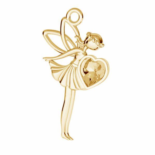 Fairy pendant Swarovski base, silver 925*ODL-00831 17,5x25,5 mm (4831 MM 5,5)