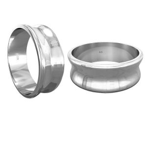 Base for rings Apoxie*sterling silver 925*RING 011 7 mm - S (10,11,12)
