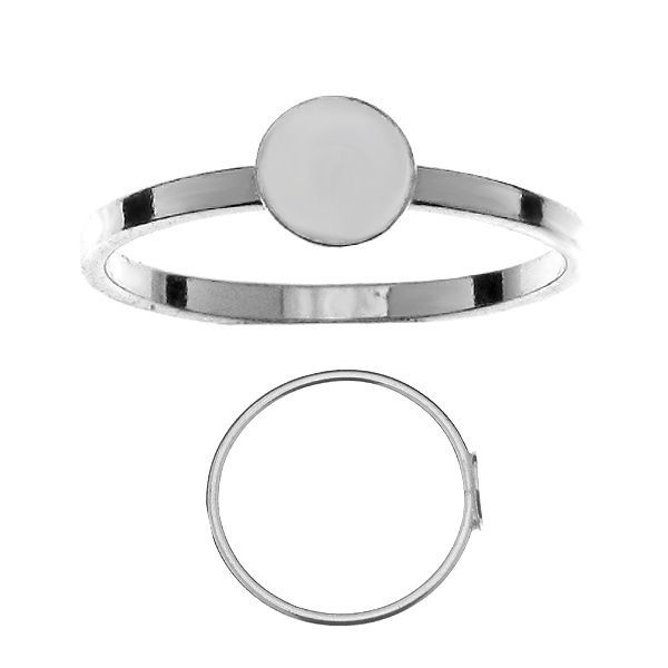 Flat 6mm ring*sterling silver 925*RING GWP 6x6 mm - S (10,11,12)