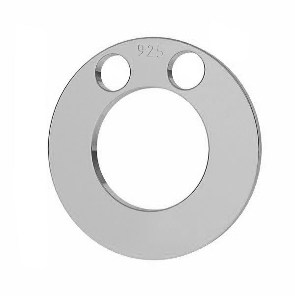 Round pendant tag, sterling silver 925, LKM-2892 - 0,80 5x5 mm