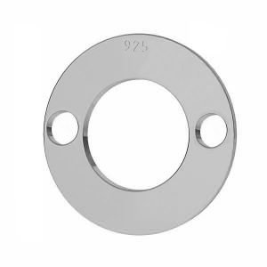 Round pendant tag, sterling silver 925, LKM-2895 - 0,50 12x12 mm