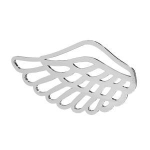 Wing pendant, sterling silver 925, LKM-2753 - 0,50 16,1x30 mm