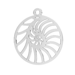 Shell pendant, sterling silver 925, LKM-2730 - 0,50 18x20,5 mm