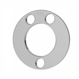 Round pendant tag, sterling silver 925, LKM-2894 - 0,50 12x12 mm