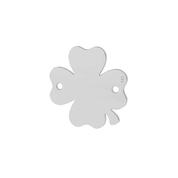 Clover pendant connector tag, sterling silver, LKM-2911 - 0,50 10x10 mm