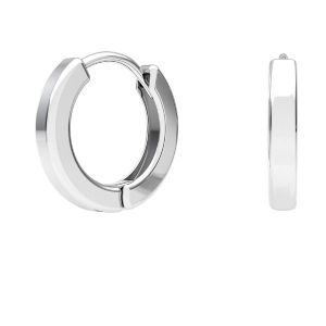 Hoop leverback with loop, streling silver 925, BZO 4 ODL-00684 ver.2 11,5x11,5 mm