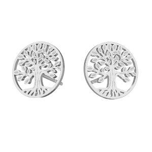 Tree pendant, sterling silver, KLS LKM-2938 - 0,50 11x11 mm