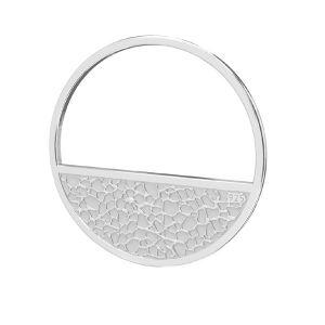 Round pendant, sterling silver 925, LKM-2745 - 0,50 18x18 mm