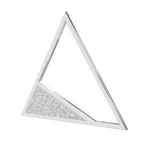 Square pendant, sterling silver 925, LKM-2746 - 0,50 17,4x20 mm