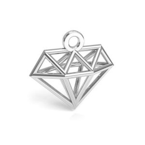 Moon pendant silver, sterling silver 925, CON 1 E-PENDANT 653 11,9x12,6 mm