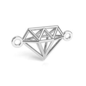 Moon pendant silver, sterling silver 925, CON 1 E-PENDANT 654 9,55x17,6 mm