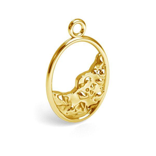 Decorative ellipse pendant silver, sterling silver 925, CON 1 E-PENDANT 633 12,2x18,8 mm