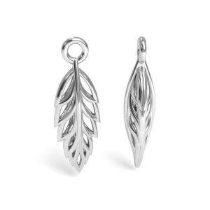 Leaf pendant silver, sterling silver 925, CON 1 E-PENDANT 646 5,5x17 mm