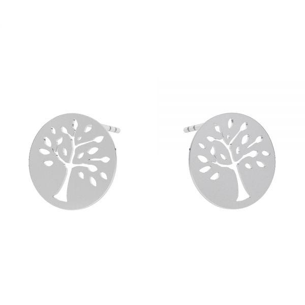 Tree pendant, sterling silver, KLS LKM-2957 - 0,50 12x12 mm