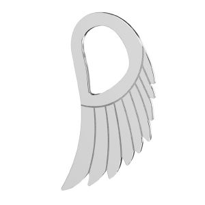 Wing pendant, sterling silver 925, LKM-2221 - 0,50 8,8x15 mm