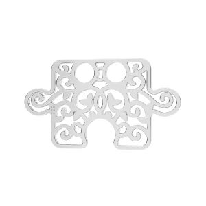 Puzzle pendant*sterling silver 925*LKM-2639 - 0,50 11x19 mm