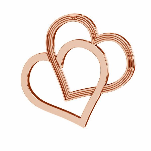 Heart pendant, sterling silver 925, LK-2190 - 0,50 18x21 mm