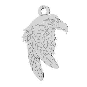 Eagle pendant, sterling silver 925, LKM-2209 - 0,50 13,1x21,9 mm