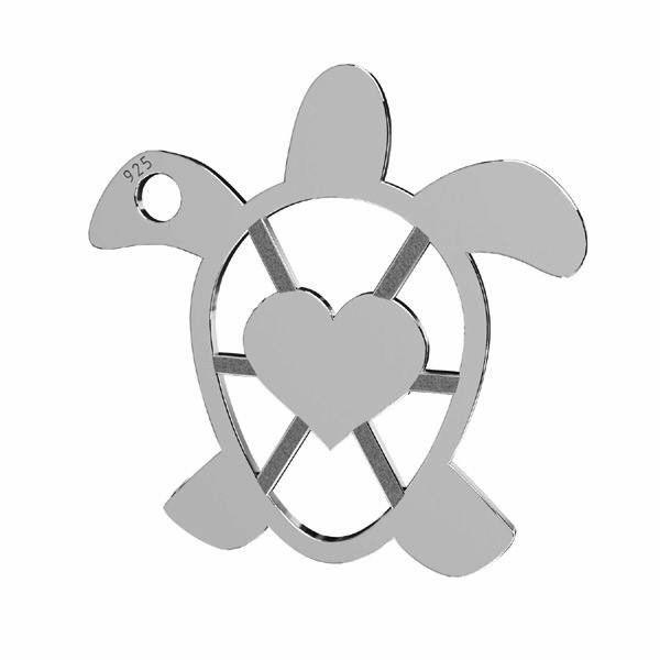 Eagle pendant, sterling silver 925, LKM-2192 - 0,50 16,3x16,3 mm