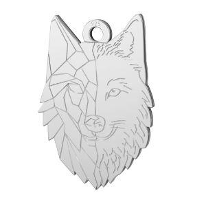 Wolf pendant, sterling silver, LKM-2223 - 0,50 14x20 mm