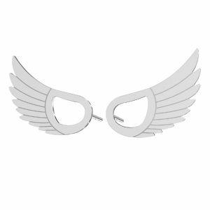 Wings earrings*sterling silver 925*KLS LKM-2961 - 0,50 8,8x15 mm