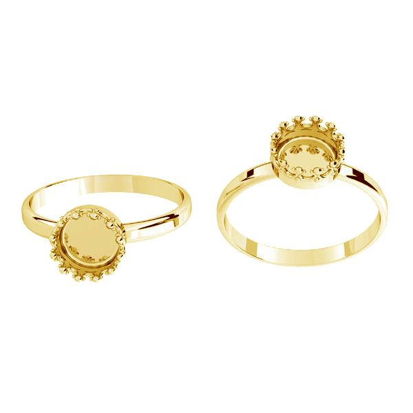 Round ring for resin - crown*sterling silver 925*ODL-00681 RING (R-15)