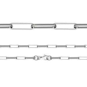 Anchor chain, diamond cut*sterling silver 925*FIO 100 40 cm