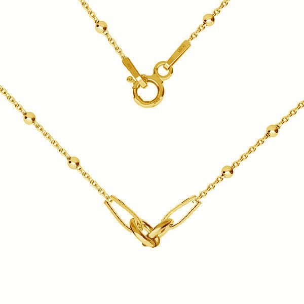Necklace base, sterling silver 925, CHAIN 35 A 030 PL 2,0 42 cm