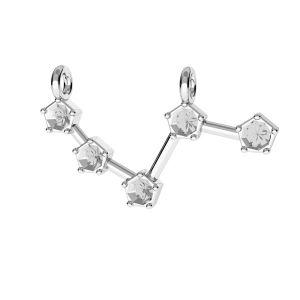 Aries zodiac pendant with Swarovski Crystals*sterling silver 925*ODL-00636 10x25 mm