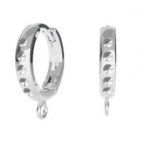 Hoop leverback with loop crystals base*sterling silver 925*ODL-00756 BZO 13,5x17 mm