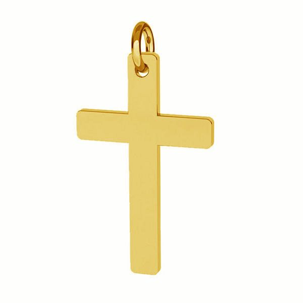 Cross pendant with jumpring, sterling silver 925, J-LKM-2034 - 0,40 12x23 mm