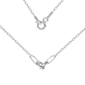 Necklace base, sterling silver 925, CHAIN 52 A 030 PL 2,0 42 cm