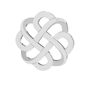 Openwork pendant, sterling silver 925, LKM-2212 - 05 15,9x15,9 mm