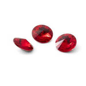 Round crystal 10mm, RIVOLI 10 MM GAVBARI LIGHT RED