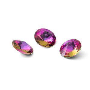Round crystal 10mm, RIVOLI 10 MM GAVBARI PURPLE ROSE