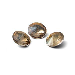 Round crystal 10mm, RIVOLI 10 MM GAVBARI IRIDESCENT GOLD