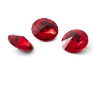 Round crystal 12mm, RIVOLI 12 MM GAVBARI LIGHT RED