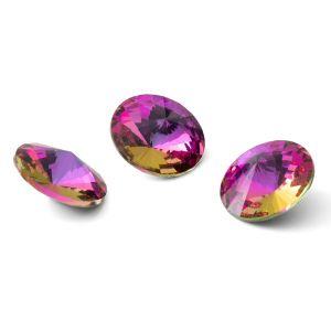 Round crystal 12mm, RIVOLI 12 MM GAVBARI PURPLE ROSE