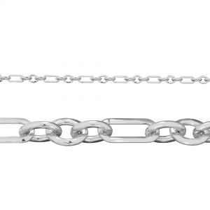 Flat anchor bulk chain*sterling silver 925*AFK 100 3+1 4x9 mm (POLISHED)