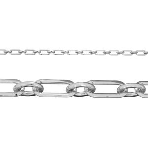 Flat anchor bulk chain*sterling silver 925*AFK 100 1+1 4x9 mm (POLISHED)