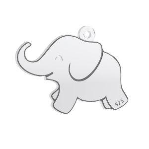 Elephant pendant*sterling silver 925*LKM-3006 - 05 14,5x20 mm