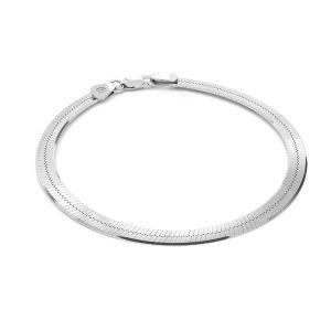 Flat snake bracelet*sterling silver 925*MAG 050 19 cm
