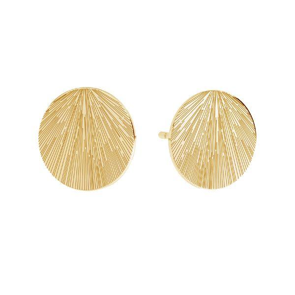 Round earrings, sterling silver 925, KLS LKM-3009 - 0,50 10x10 mm